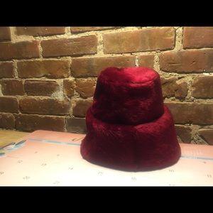 Vintage Accessories - Repost - Otto Lucas Lipstick Red Hat VINTAGE 1950